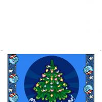 Printable Christmas Tree Greeting - Printable Christmas Cards - Free Printable Cards