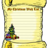 Christmas Wish List Stationary