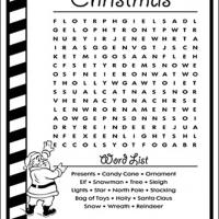 Printable Christmas Word List - Printable Word Search - Free Printable Games