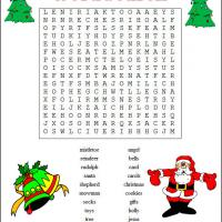 Printable Christmas Word Search - Printable Word Search - Free Printable Games