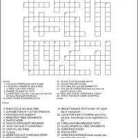 It is a graphic of Modest Holiday Crossword Puzzles Printable