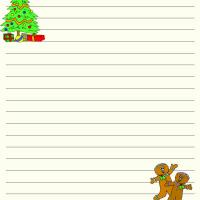 Printable Christmas Writing Paper - Printable Stationary - Free Printable Activities