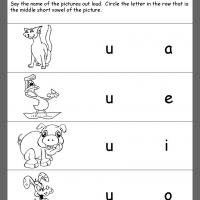 Printable Circle the Vowel Review - Printable Kindergarten Worksheets and Lessons - Free Printable Worksheets