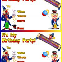 Printable Circus Birthday Party - Printable Birthday Invitation Cards - Free Printable Invitations