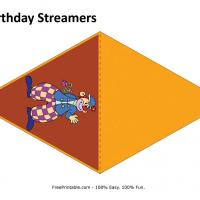 Circus Birthday Streamer
