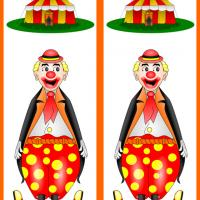 Circus Clown Bookmark
