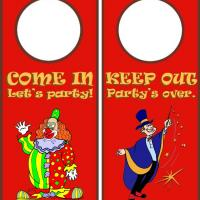 Printable Circus Door Knob Hanger - Printable Fun - Free Printable Activities