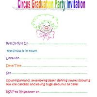 Circus Garduation Party Invitation