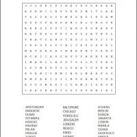 Printable Cities Word Search - Printable Word Search - Free Printable Games