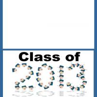 Printable Class of 2013 Graduation Card - Printable Graduation Cards - Free Printable Cards