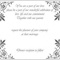Classic Elegant Wedding Invitation