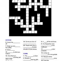 Printable Cliche Crossword - Printable Crosswords - Free Printable Games