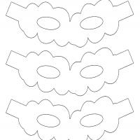Cloud Shaped Mask Template