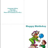 Printable Clown On Cake - Printable Birthday Cards - Free Printable Cards