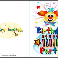 Clown Party Birthday Invitation
