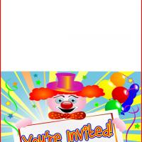 Printable Clown Party - Printable Birthday Invitation Cards - Free Printable Invitations