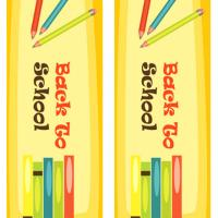 Color Pens Back to School Bookmarks