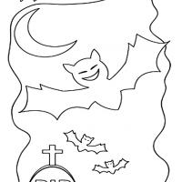 Printable Color the Bats - Printable Coloring Sheets - Free Printable Coloring Pages
