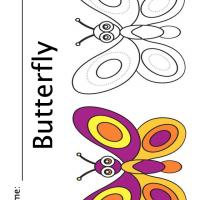 Printable Color the Butterfly - Printable Coloring Sheets - Free Printable Coloring Pages
