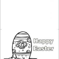 Color The Easter Egg Card