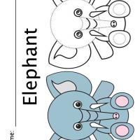 Printable Color the Elephant - Printable Coloring Sheets - Free Printable Coloring Pages