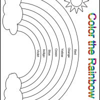 Color the Rainbow Kindergarten Worksheet