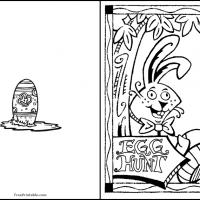 Color this Easter Egg Hunt Card