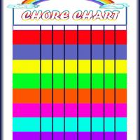 Printable Colored Chore Chart - Printable Chore Charts - Free Printable Activities