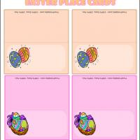 Printable Colored Easter Eggs - Printable Place Cards - Free Printable Cards