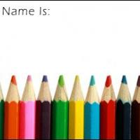 Colored Pencil Name Tag