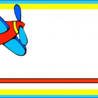 Colored Airplane Name Tag