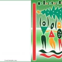 Colorful Abstract Christmas Card