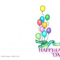 Colorful Balloons  Father's Day Card
