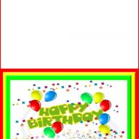 Printable Colorful Birthday Card - Printable Birthday Cards - Free Printable Cards