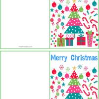 Printable Colorful Chirstmas Decor Gift Cards - Printable Gift Cards - Free Printable Cards