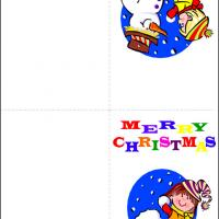 Printable Colorful Christmas - Printable Christmas Cards - Free Printable Cards