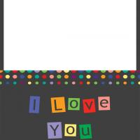 Printable Colorful Dots I Love You Card - Printable Greeting Cards - Free Printable Cards