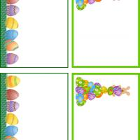 Colorful Easter Eggs Gift Cards