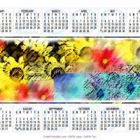 Printable Colorful Flowers Themed Calendar - Printable Calendar Pages - Free Printable Calendars