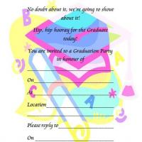 Colorful Graduation Party Invitation