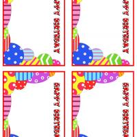 Colorful Happy Birthday Gift Cards