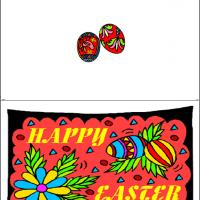 Printable Colorful Happy Easter - Printable Easter Cards - Free Printable Cards