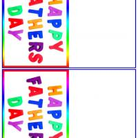 Colorful Happy Father's Day Letters