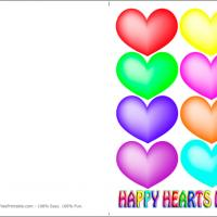 Printable Colorful Hearts - Printable Valentines - Free Printable Cards