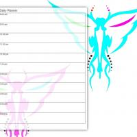 Printable Colorful Insects Daily Planner - Printable Daily Calendar - Free Printable Calendars