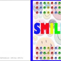 Printable Colorful Smilies - Printable Greeting Cards - Free Printable Cards