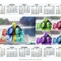 Colorful Family Themed Calendar