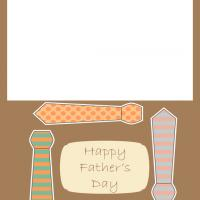 Printable Colorful Ties Father's Day Card - Printable Fathers Day Cards - Free Printable Cards