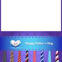 Printable Colorful Ties for Dad - Printable Fathers Day Cards - Free Printable Cards