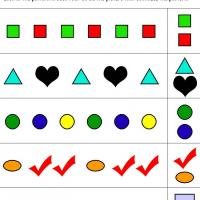 Colors & Shapes Pattern Review